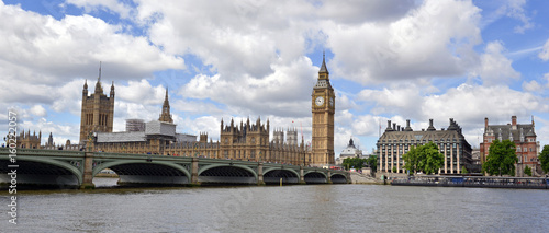 London skyline with Big Ben and Westminster Palace and Houses of Parliament which has become a symbol of England and Brexit discussions