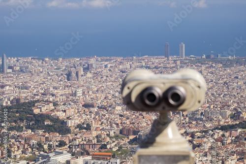 Barcelona view from Tibidabo (Serra de Collserola)