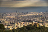 Panoramic view of the Barcelona from Tibidabo mountain