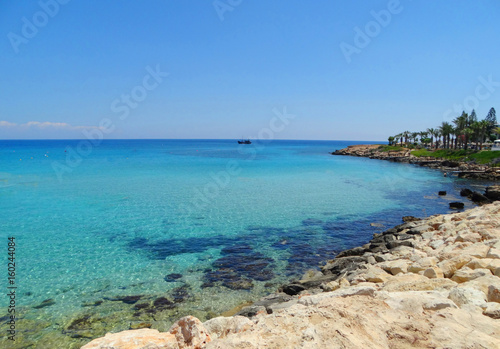 Foto op Plexiglas Cyprus beach coast landscape mediterranean sea Cyprus island