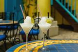 Two glasses of frozen daiquiri cocktail