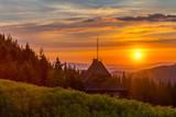 Sunrise, Mountains landscape