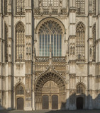 Facade of the Cathedral of Our Lady (Onze-Lieve-Vrouwekathedraal) in Antwerp, Belgium