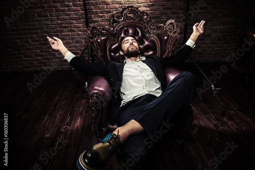 extravagant fashionable man Poster
