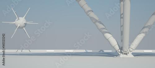 futuristische-hintergrund-3d-rendering