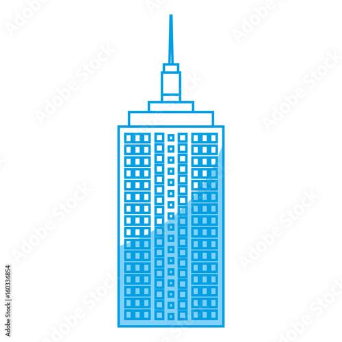 city skyscraper icon over white background vector illustration