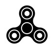 Fidget spinner toy for stress relief flat vector icon for apps and websites