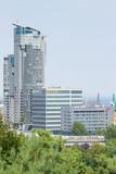 Gdynia, Polska - 20 sierpnia 2016 r .: Widok budynku Sea Towers w Gdyni