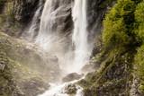 Polikar Waterfall on the slope of the mountain near the Krasnaya Gorki of the Krasnodar Region