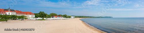 Strand Panorama vom Pier in Sopot (Molo w Sopocie) Gdynia (Gdingen) pomorskie (Pommern) Polska (Polen) - 160435870