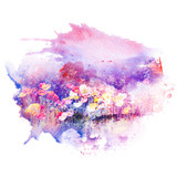 Flower watercolor illustration. - 160446497