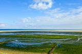 Landgewinnung Nordsee Tideland Wellenbrecher Küste