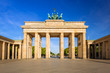 Leinwandbild Motiv The Brandenburg Gate in Berlin at sunrise, Germany