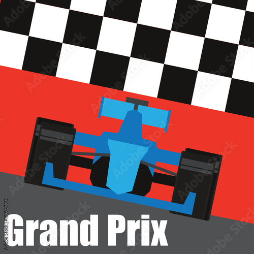 Fotobehang F1 formula one / grand prix racing poster. vector illustration