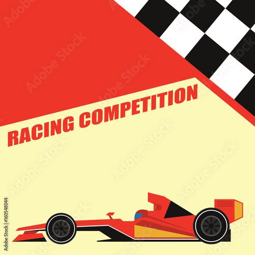 Plexiglas F1 formula one / grand prix racing poster. vector illustration