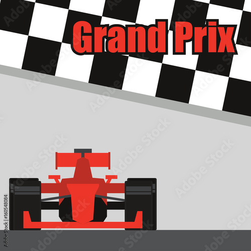 Fotobehang F1 formula one / grand prix racing poster. vector illustration
