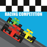 formula one / grand prix racing poster. vector illustration