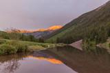 Mountain Sunset Reflection