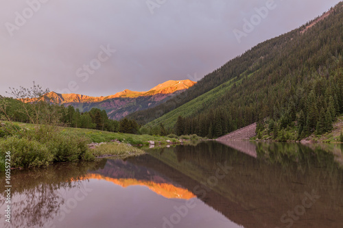 Mountain Sunset Reflection