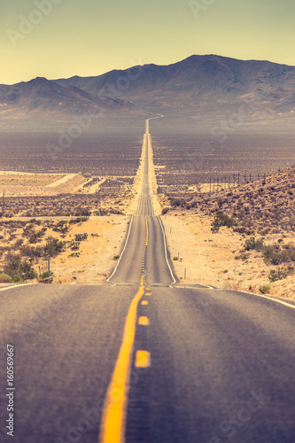 Poster Highway in the American West, USA