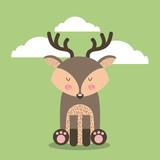 cute animal illustration icon vector design graphic - 160572447
