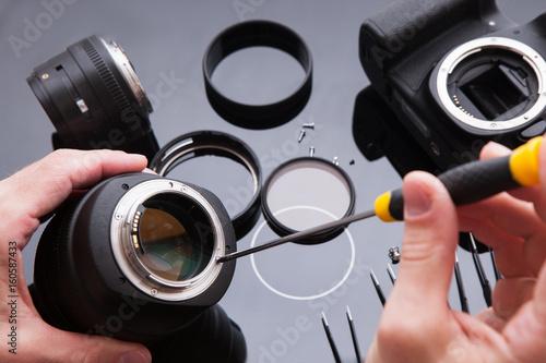Poster Photo camera lens repair set
