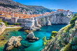 Dubrovnik landscape. / Aerial view at famous european travel destination in Croatia, Dubrovnik old town. - 160588424