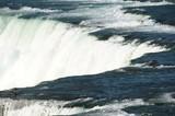 closeup on waterfall in Niagara waterfall