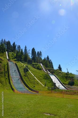 Tremplin de saut à ski Poster