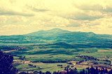 Tuscany in spring, toned