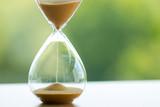 Sand clock, business time management concept - 160668847