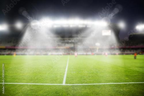Foto op Canvas Stadion evening stadium arena soccer field defocused background