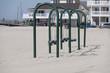 Child swings on beach in Ventnor NJ