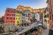 Italy Riviera at Colorful Riomaggiore village, Cinque Terre, Italy