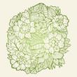 Vector floral backround - 160722229