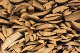 Wall of wood closeup.