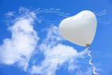 Fototapety ハートの風船と譜面
