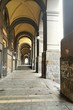 Quadro NAPLES, ITALY - JANUARY 28, 2017 : street view of arcades in Naples city old center