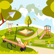 Park and playground cartoon