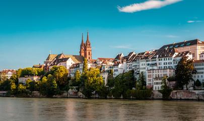 Beautiful panoramic view of Basel city in Switzerland