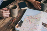 planning trip with map - 160801231