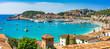Leinwanddruck Bild - Spanien Mittelmeer Küste Bucht von Port de Soller Mallorca