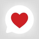 Kreis Sprechblase - Herz rot - 160819804