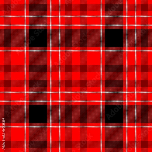check diamond tartan plaid fabric seamless pattern texture background - red, black and white color - 160828299