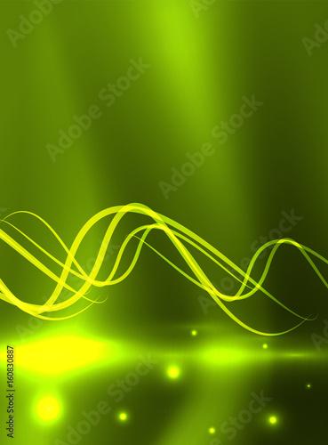 Glowing shiny wave background