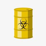 Toxic barrel. Vector.  - 160833414