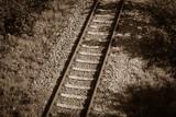 background, colored, railroad tracks, wallpaper, railway, gravel, stones, iron rails, civilisation, colored picture