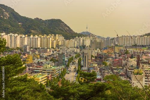 city scape of downtown, seoul korea