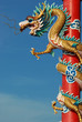 Chinese dragon in front of blue sky