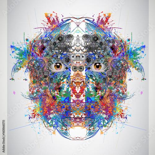 Aluminium Reznik Красочные волшебные глаза, абстрактный фон